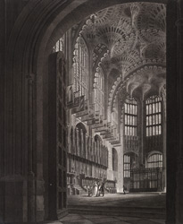 Internal View of Henry the Seventh's Chapel from Westminster Abbey